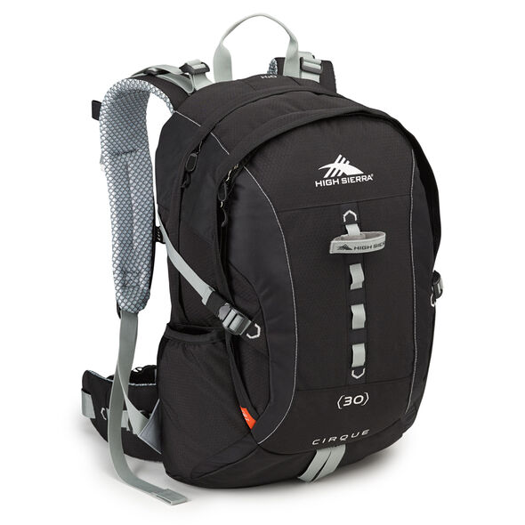 High Sierra Classic 2 Series Cirque 30L Framepack in the color Black/Silver.