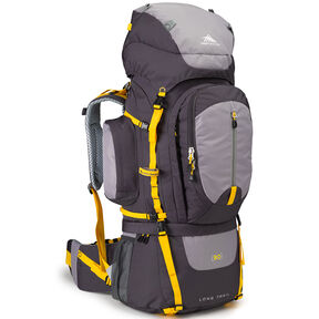 High Sierra Classic 2 Series Long Trail 90 Frame Pack in the color Mercury/Ash/Yellow.