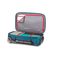"""High Sierra Selway 25"""" Duffel Upright in the color Peacock/Black/Crimson."""
