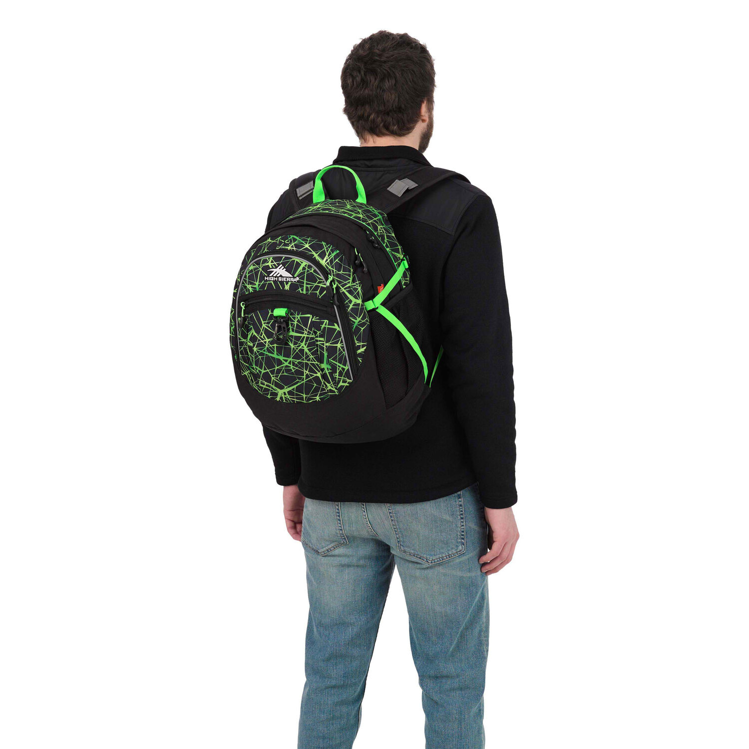 Web colors lime - High Sierra Fat Boy Backpack In The Color Digital Web Black Lime