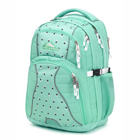 High Sierra Swerve Backpack in the color Aquamarine/Tri Geo/White.