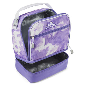Stacked Compartment Lunch Bag in the color Tie Die.