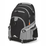 High Sierra Loop Backpack in the color Black/Charcoal.