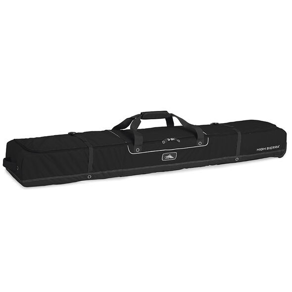 High Sierra Deluxe Wheeled Double Ski Bag in the color Black/Black.