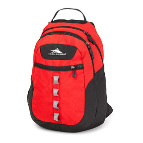 High Sierra Opie Backpack in the color Crimson/Charcoal.