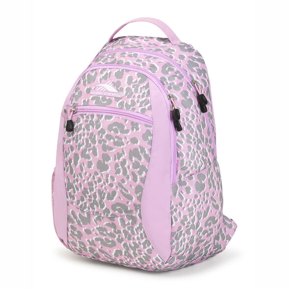 High Sierra Curve Backpack in the color Shadow Leopard/Iced Lilac/White.