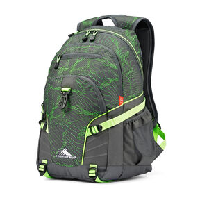 High Sierra Loop Backpack in the color Light Wave/Mercury/Lime.