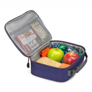 Single Compartment Lunch Bag in the color True Navy.
