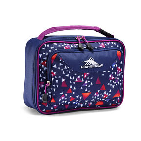 High Sierra Single Compartment Lunch Bag in the color Triangle Party/True Navy/Hyacinth.