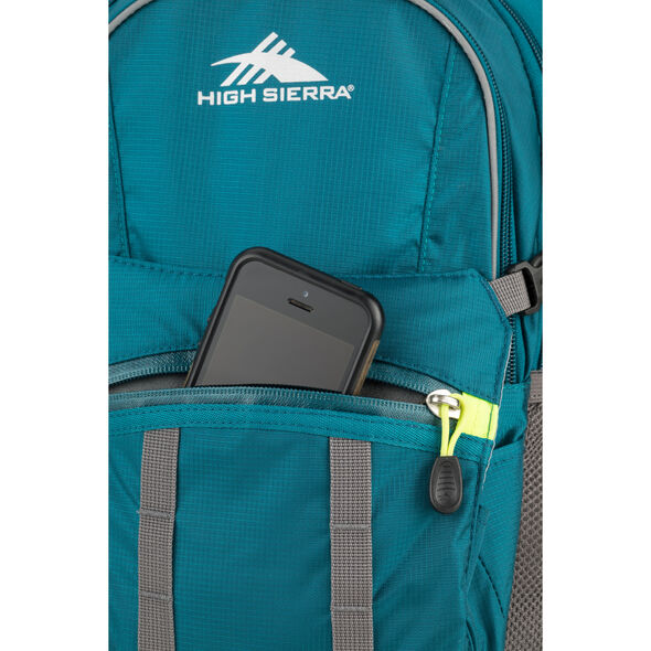 High Sierra HydraHike 20L Pack in the color Lagoon/Slate/Zest.