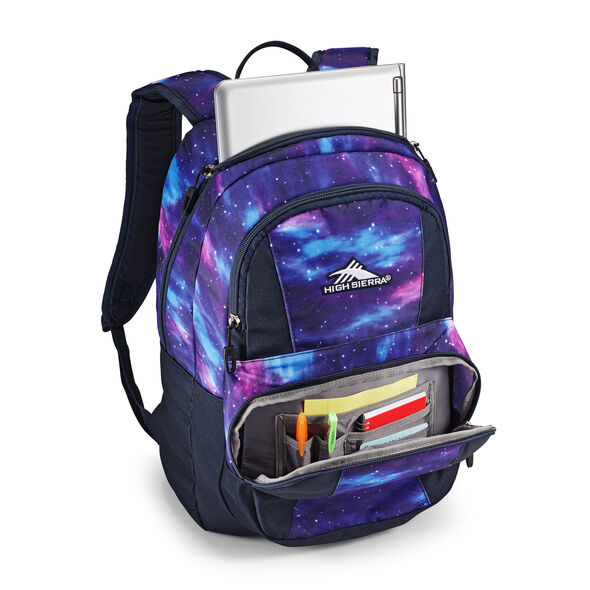 High Sierra Pinova Backpack in the color Cosmos/Midnight Blue.