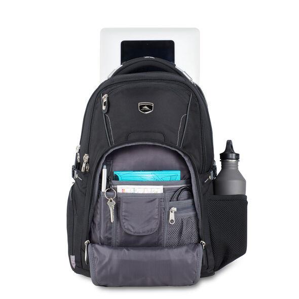 High Sierra Vuna TSA Business Backpack in the color Black/Charcoal.