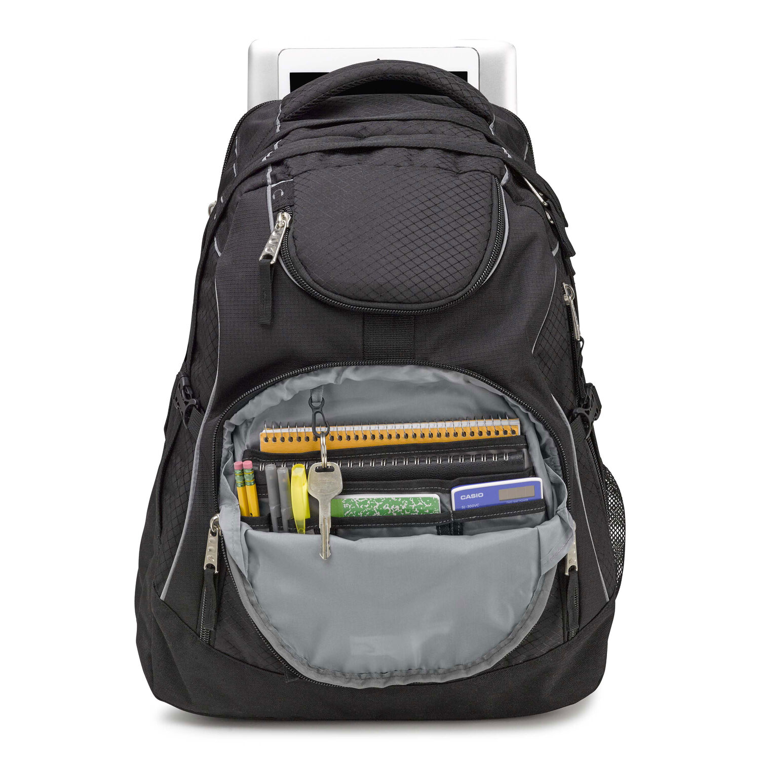 708b3e9c5 High Sierra Access Backpack in the color Black/Black.