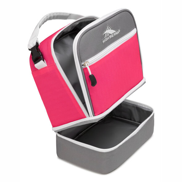 High Sierra Stacked Compartment in the color Flamingo/Charcoal/White.