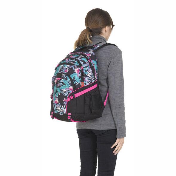High Sierra Loop Backpack in the color Tropic Nights/Black/Flamingo.