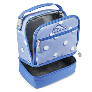 Stacked Compartment Lunch Bag in the color Polka Dots.