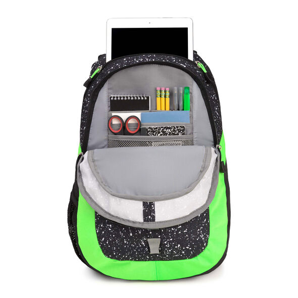High Sierra Opie Backpack in the color Speckle/Black/Aquamarine.