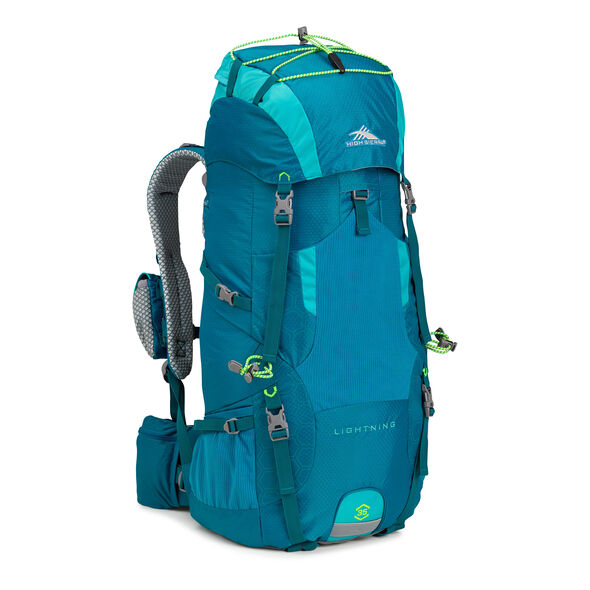 High Sierra Tech 2 Series Womens Lightning 35 Frame Pack in the color Sea/Tropic Teal/Zest.