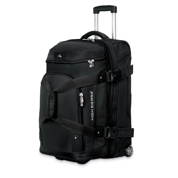 """High Sierra AT3 26"""" Drop Bottom Wheeled Duffel in the color Black."""