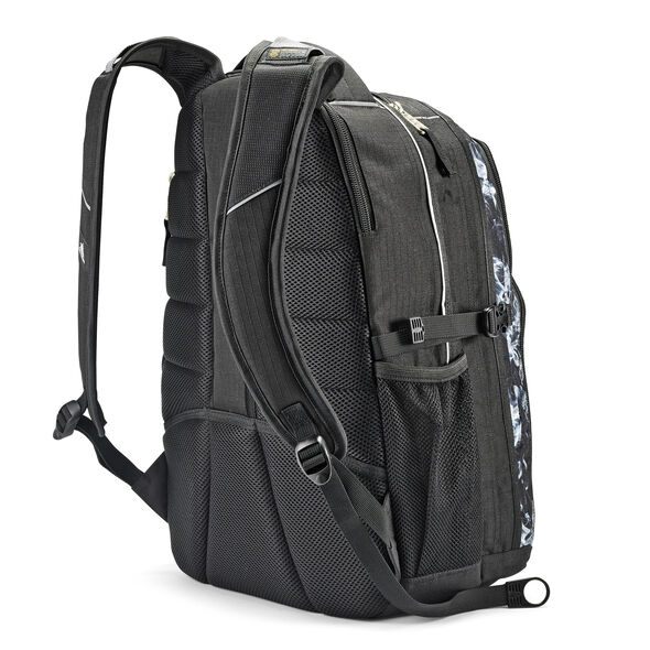 High Sierra Swerve Backpack in the color Black Steam/Black.