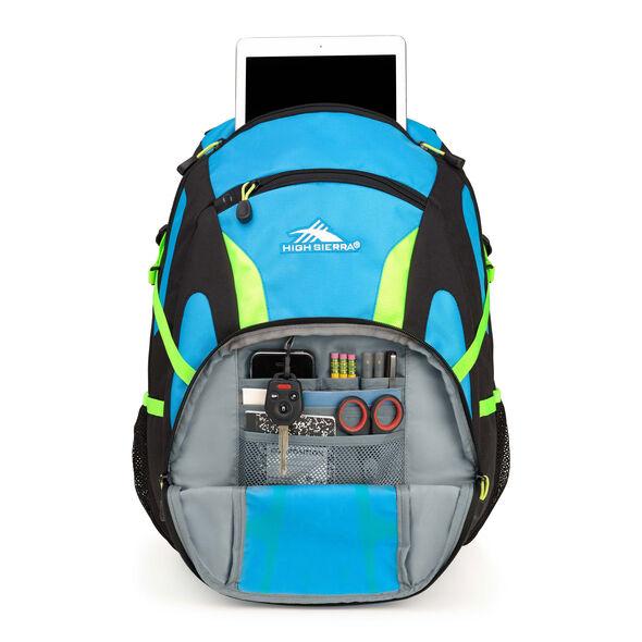High Sierra Composite Backpack in the color Pool/Black/Zest.