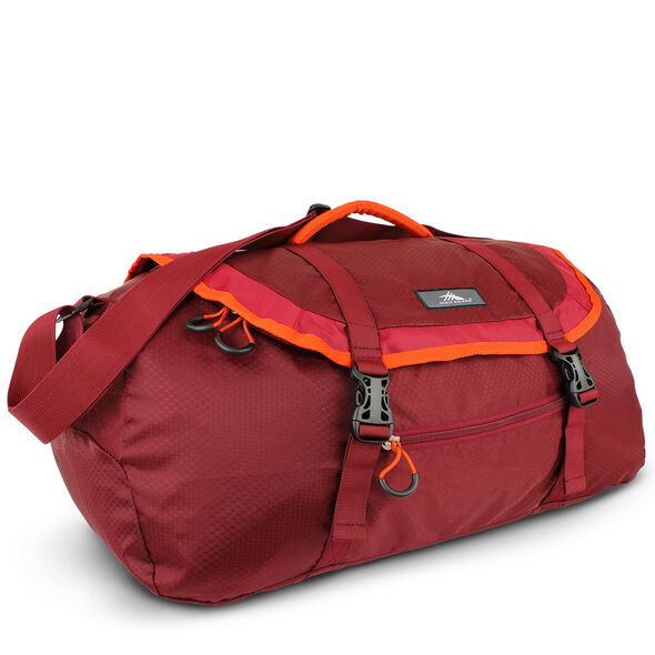High Sierra Pack-N-Go 2 40L Sport Duffel in the color Brick/Carmine/Red Line.