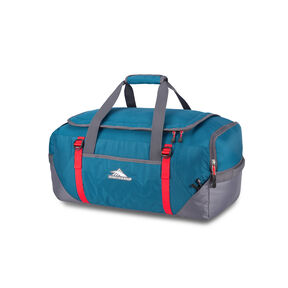High Sierra Decatur Convertible Travel Duffel Backpack in the color Peacock/Mercury/Crimson.