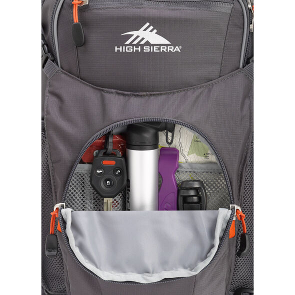 High Sierra Hydrahike 16L in the color Mercury/Redline.
