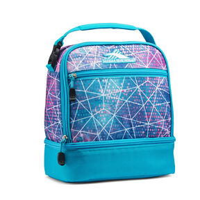 High Sierra Stacked Compartment Lunch Bag in the color Sequin Facet/Bluebird.
