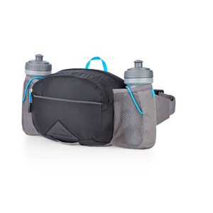 HydraHike Waist Pack With Bottles in the color Black/Slate/Pool.