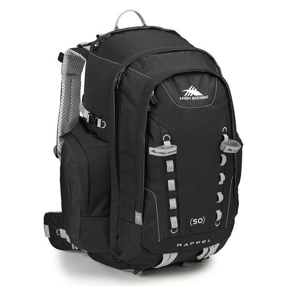 High Sierra Classic 2 Series Rappel 50 Frame Pack in the color Black/Silver.