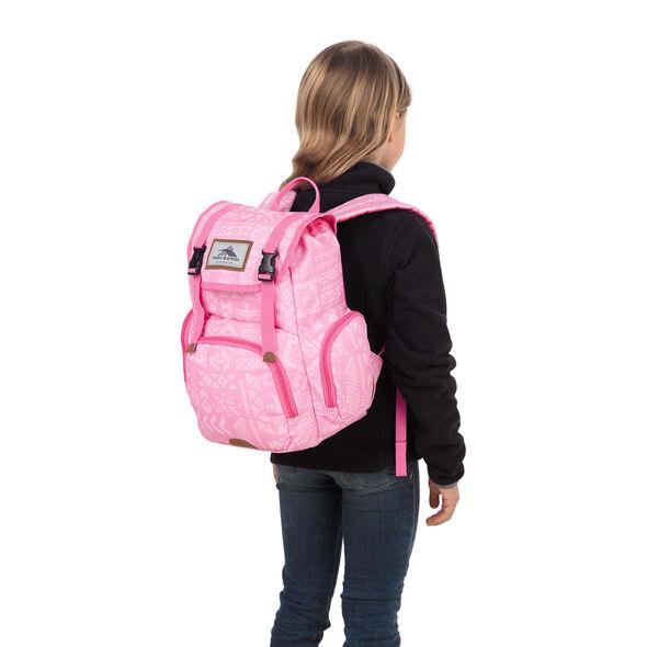 High Sierra Mini Emmett Backpack in the color Block Print/ Pink Lemonade.