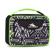High Sierra Lunch Packs Single Compartment in the color Geo Weave/Black/Zest.