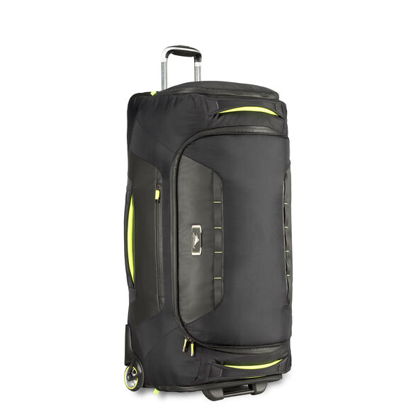 """High Sierra AT8 34"""" Wheeled Duffel in the color Black Zest."""