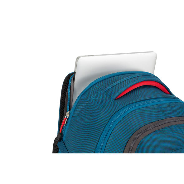 High Sierra Decatur Computer Backpack in the color Peacock/Mercury/Crimson.