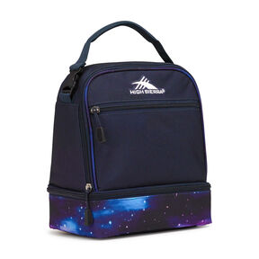 High Sierra Stacked Compartment Lunch Bag in the color Midnight Blue/Cosmos.