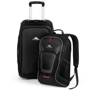 AT7 Carry-On Wheeled Backpack in the color Black.