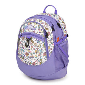 High Sierra Fat Boy Backpack in the color Sweet Cakes/ Lavender/White.