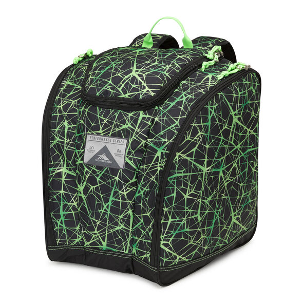 High Sierra Trapezoid Boot Bag in the color Digital Web/Black/Lime.