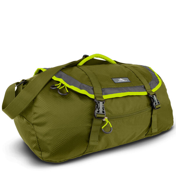 High Sierra Pack-N-Go 2 40L Sport Duffel in the color Moss/Mercury/Chartreuse.