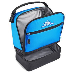 Stacked Compartment Lunch Bag in the color Sports Blue/Black.