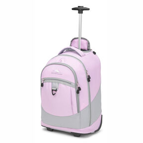 High Sierra Chaser Wheeled Backpack in the color Iced Lilac/Ash.