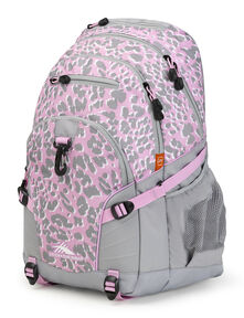 High Sierra Loop Backpack in the color Shadow Leopard/Iced Lilac/White.