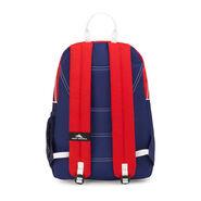 High Sierra Mini Loop Backpack in the color Crimson/True Navy/ White.