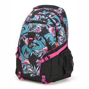 High Sierra Loop Backpack in the color Tropic Nights/Black/Flamingo.