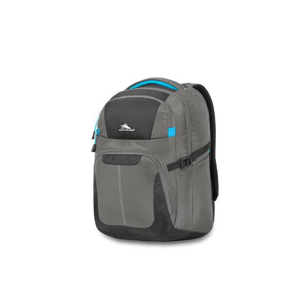 High Sierra Selway Computer Backpack in the color Mercury/Black/Pool.