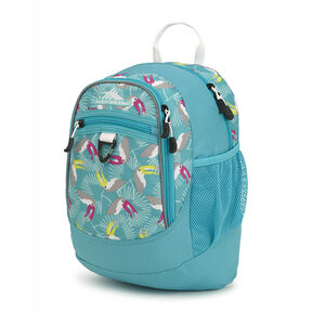 High Sierra Mini Fatboy Backpack in the color Toucan/Tropic Teal/White.