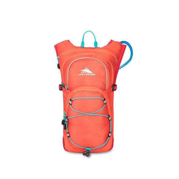 High Sierra HydraHike 8L Pack in the color Redline/Crimson/Turqoise.