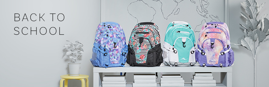 New bag, fresh start! Shop the all new colors and patterns for back to school this year from High Sierra.