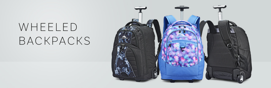 Shop the all new colors and patterns for your favorite wheeled backpack from High Sierra.